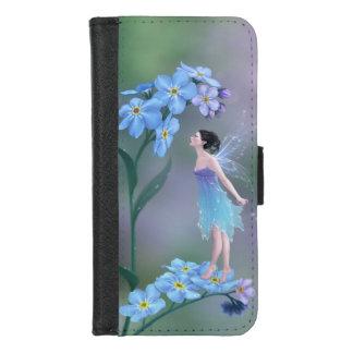 Coque Portefeuille Pour iPhone 8/7 Fée de fleur de myosotis