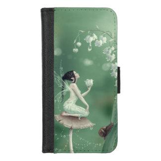 Coque Portefeuille Pour iPhone 8/7 Fée de fleur du muguet