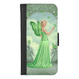 Coque Portefeuille Pour iPhone 8/7 Fée de papillon de pierre porte-bonheur de Peridot