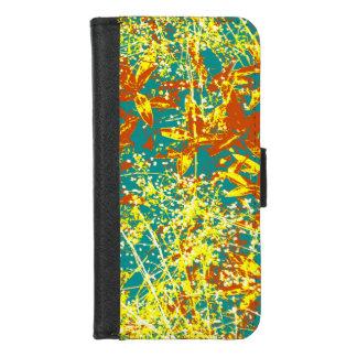 Coque Portefeuille Pour iPhone 8/7 feuille brun et jaune rouillés