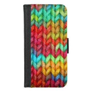 Coque Portefeuille Pour iPhone 8/7 Fil coloré de tricoteuses