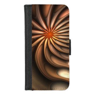 Coque Portefeuille Pour iPhone 8/7 Fleur d'orange d'abrégé sur conversation de Coule