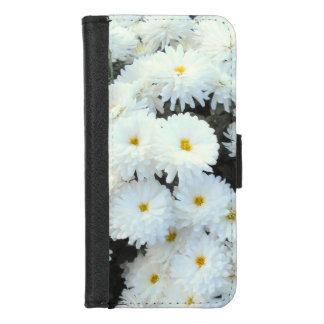 Coque Portefeuille Pour iPhone 8/7 Fleurs blanches de chrysanthème