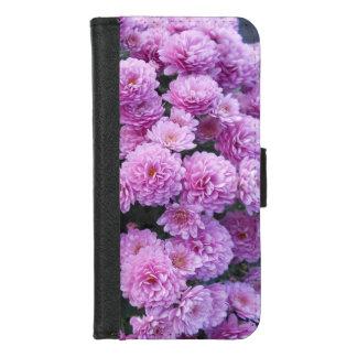 Coque Portefeuille Pour iPhone 8/7 Fleurs roses de chrysanthème