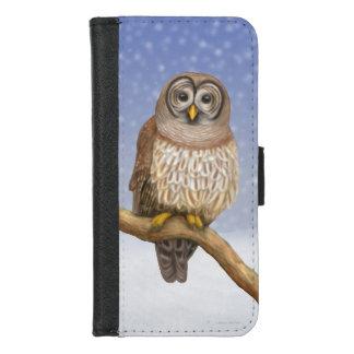 Coque Portefeuille Pour iPhone 8/7 Hibou barré dans l'iPhone d'hiver 7/8 caisse de