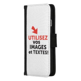 Coque Portefeuille Pour iPhone 8/7 Imprimer vos designs en ligne DIY en Français