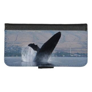 Coque Portefeuille Pour iPhone 8/7 infraction de baleine de bosse