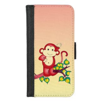 Coque Portefeuille Pour iPhone 8/7 iPhone animal de singe rouge mignon 8/7 caisse de