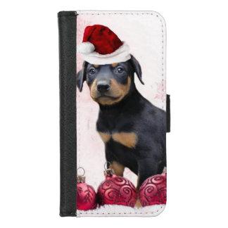Coque Portefeuille Pour iPhone 8/7 iPhone de chien de Pinscher de dobermann de Noël
