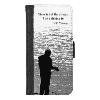 Coque Portefeuille Pour iPhone 8/7 iPhone de citation de pêche de Thoreau 8/7 caisse