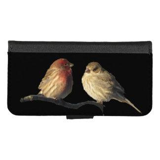 Coque Portefeuille Pour iPhone 8/7 iPhone d'oiseaux de pinson de Chambre 8/7 caisse