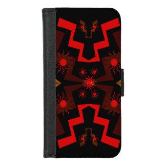 Coque Portefeuille Pour iPhone 8/7 iPhone ethnique rouge de motif de Brown 8/7 caisse