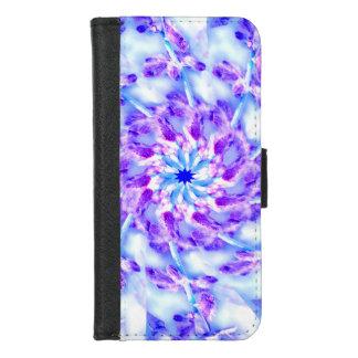 Coque Portefeuille Pour iPhone 8/7 iPhone floral pourpre de mandala 8/7 caisse de