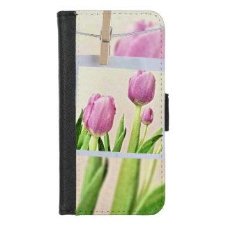 Coque Portefeuille Pour iPhone 8/7 iPhone pourpre de tulipes 8/7 caisse de