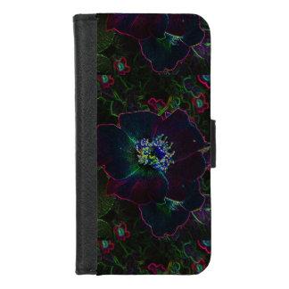 Coque Portefeuille Pour iPhone 8/7 iPhone rose de fleur de néon électrique 8/7 caisse