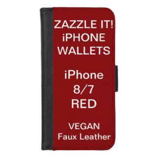 Coque Portefeuille Pour iPhone 8/7 iPhone ROUGE personnalisé par coutume 8/7 modèle