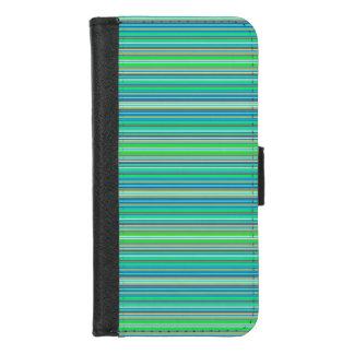 Coque Portefeuille Pour iPhone 8/7 iPhone vert-bleu de motif de rayure 8/7 caisse de