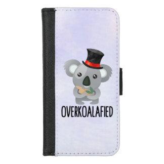 Coque Portefeuille Pour iPhone 8/7 Koala mignon de calembour d'Overkoalafied dans le