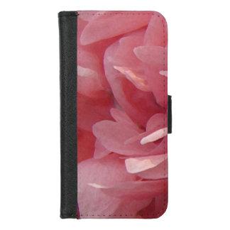 Coque Portefeuille Pour iPhone 8/7 Le pavot rose floral fleurit l'iPhone 8/7 caisse
