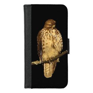 Coque Portefeuille Pour iPhone 8/7 Le rouge a coupé la queue l'iPhone d'oiseau de
