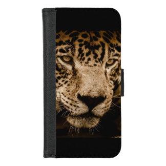 Coque Portefeuille Pour iPhone 8/7 Le visage de grand chat d'animal sauvage de Jaguar