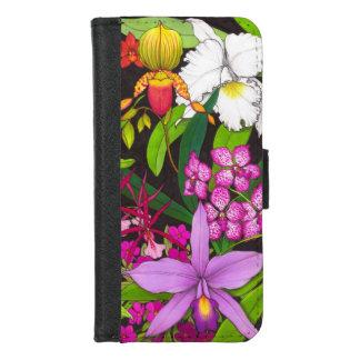 Coque Portefeuille Pour iPhone 8/7 L'orchidée tropicale fleurit la caisse de