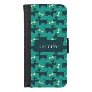 Coque Portefeuille Pour iPhone 8/7 Motif mignon de chien avec les oreilles souples et