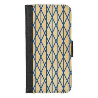 Coque Portefeuille Pour iPhone 8/7 Motif moderne de GeometricStylish de tissu bleu de