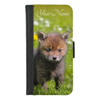 Coque Portefeuille Pour iPhone 8/7 Nom sauvage d'animal de bébé de CUB de kit