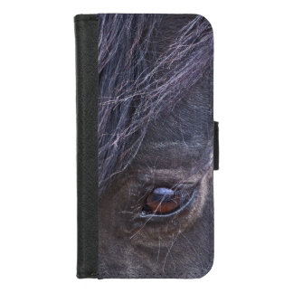Coque Portefeuille Pour iPhone 8/7 Oeil d'un mustang sauvage