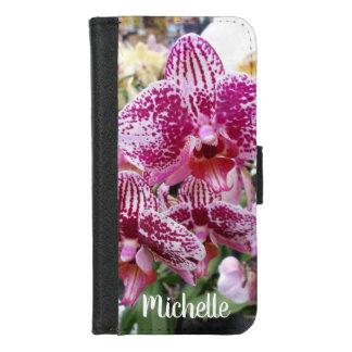 Coque Portefeuille Pour iPhone 8/7 Orchidées éclaboussées roses et blanches