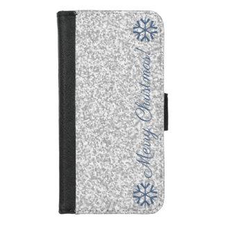Coque Portefeuille Pour iPhone 8/7 Parties scintillantes modernes de gris argenté