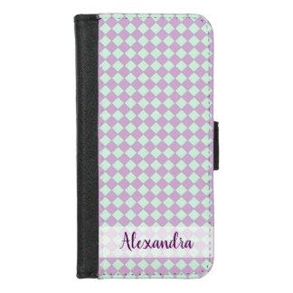 Coque Portefeuille Pour iPhone 8/7 Pastels de Stitchy - pourpre et Aqua