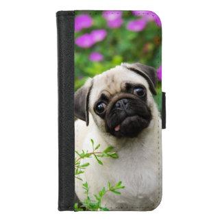 Coque Portefeuille Pour iPhone 8/7 Photo fauve mignonne d'animal familier de visage