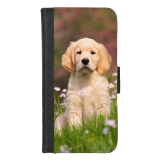 Coque Portefeuille Pour iPhone 8/7 Photo mignonne d'animal de visage de chiot de