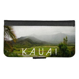 Coque Portefeuille Pour iPhone 8/7 Photographie de paysage de Kauai Hawaï