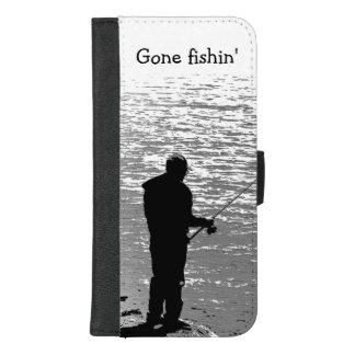 Coque Portefeuille Pour iPhone 8/7 Plus Allé pêcher à l'iPhone de lac 8/7 caisse plus de