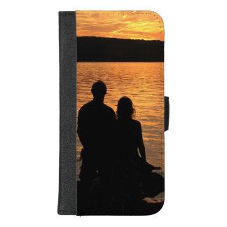 Coque Portefeuille Pour iPhone 8/7 Plus Amants à l'iPhone de lac sunset 8/7 caisse plus de