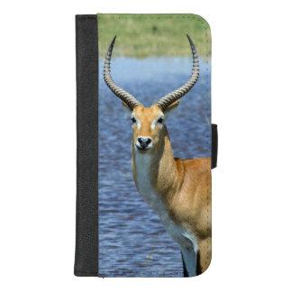 Coque Portefeuille Pour iPhone 8/7 Plus Antilope de Puku d'Africain