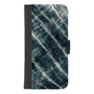 Coque Portefeuille Pour iPhone 8/7 Plus Bleu peint en bois
