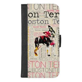 Coque Portefeuille Pour iPhone 8/7 Plus Boston adorable Terrier