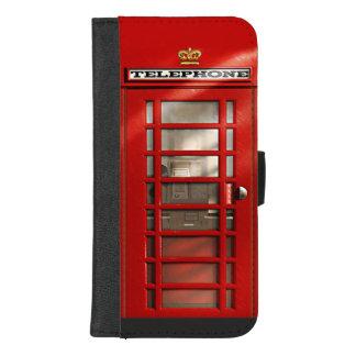 Coque Portefeuille Pour iPhone 8/7 Plus Cabine téléphonique rouge britannique classique