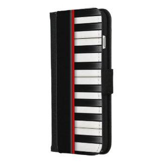 Coque Portefeuille Pour iPhone 8/7 Plus clavier de piano noir et blanc