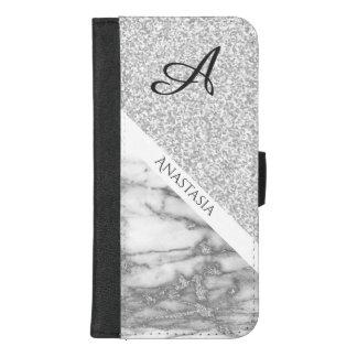 Coque Portefeuille Pour iPhone 8/7 Plus Conception blanche élégante de marbre et de