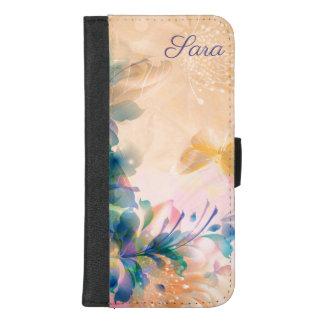 Coque Portefeuille Pour iPhone 8/7 Plus Conception florale abstraite moderne