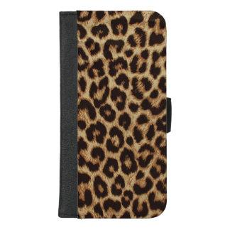 Coque Portefeuille Pour iPhone 8/7 Plus Copie de luxe de peau de léopard