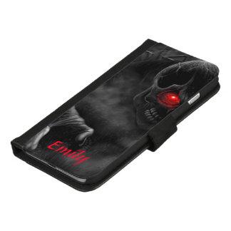 Coque Portefeuille Pour iPhone 8/7 Plus Coutume effrayante de crâne
