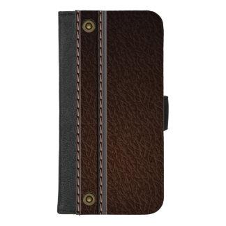 Coque Portefeuille Pour iPhone 8/7 Plus Faux élégant Brown simili cuir