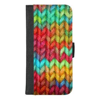 Coque Portefeuille Pour iPhone 8/7 Plus Fil coloré de tricoteuses