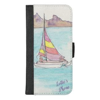 """Coque Portefeuille Pour iPhone 8/7 Plus IPhone 8/7 caisse """"bateau à voile de portefeuille"""""""